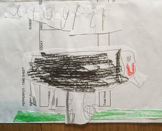 Child's drawing of a tapir